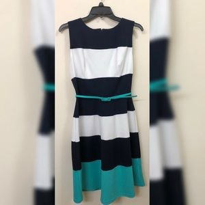 Fit & Flare Dress with Belt